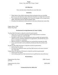 Resume With Community Service Resume Functional And Chronological Resume