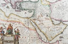 Arabia Map 1638 Jansson Old Antique Map Of The Turkish Empire Saudi Arabia