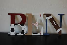Kids Room Letters by Sports Themed Nursery Letters Baby Boy Piquet Needs A Name