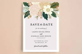save the dates classic floral save the date cards by alethea and ruth minted