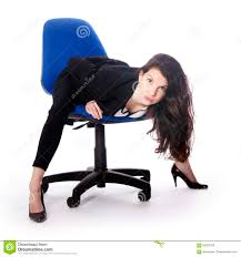 Secretary Desk Chair by Beautiful Brunette Secretary With Attitude On Office Chair Stock