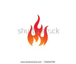 fire flame logo template vector icon stock vector 728262706