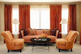 Orange Panel Curtains Cotton Blend Single Panel Curtains Bedroom Contemporary With Earth