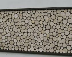 aspen wood wall made to order lead time up to 5 weeks rustic wood slice wall