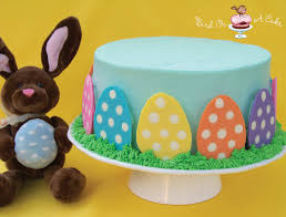 bird on a cake polka dot easter egg cake