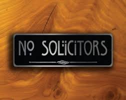 no soliciting sign etsy