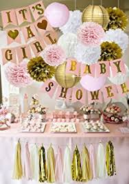pink gold baby shower pink and gold baby shower decorations for girl baby