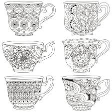 tea cups coloring page coffee tea coloring pages for adults