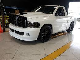custom truck tail lights repaint truck in custom pearl white with black grille scoop srt 22