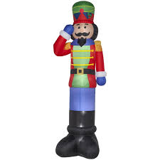 Nutcracker Christmas Yard Decorations by Amazon Com Christmas Inflatable Giant 16 U0027 Nutcracker Outdoor Yard