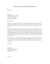 sample cover letters for high students guamreview com