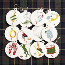 12 days of christmas ornaments 12 days of christmas ornaments ballard designs