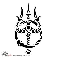 tattoo of trishula and ouroboros eternity unity tattoo custom
