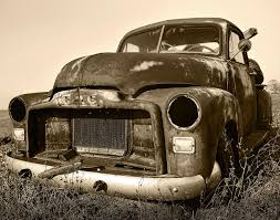 rusty pickup truck rusty but trusty old gmc pickup truck sepia photograph by gordon