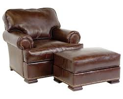 matching chair and ottoman best leather chair with ottoman leather chair roll arm custom