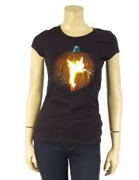 Halloween T Shirts by Disney Tinkerbell Fairy Silhouette Halloween Jack O U0027 Lantern