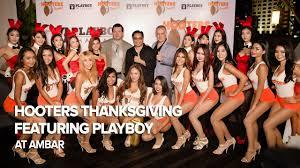 hooters thanksgiving featuring thailand at ambar bangkok