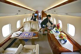 Global Express Interior The Incredible Private Jets Of The Rich And Famous Daily Mail Online