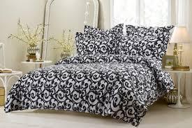 Cherry Duvet Cover 6pc Black And White Swirl Design Bedding Set Includes Comforter