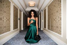 grace mahary getting ready for the 2017 cafa awards coveteur