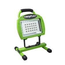 smart electrician rechargeable work light designers edge high intensity green 24 led rechargeable portable