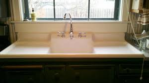 Farmhouse Kitchen Sink With Drainboard Drop In Farmhouse Kitchen Sinks Handcrafted Metal Bar Sink With