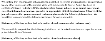 collection of solutions cover letter for scientific papers on