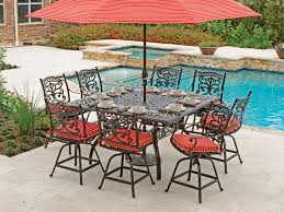 Patio Table 6 Chairs Great Attractive Bar Height Outdoor Table And Chairs Residence
