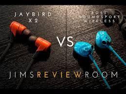 jaybird x2 black friday jaybird x2 vs bose soundsport wireless versus video youtube