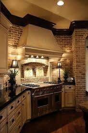White Brick Backsplash Kitchen - brick kitchen backsplash