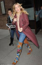 womens boots peacocks kate hudson puts best forward in thigh high boots