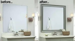 framing bathroom mirror with molding crown molding mirror beechridgecs com