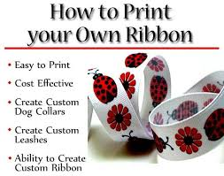 learn how to print custom ribbon craft sewing projects and hair bow