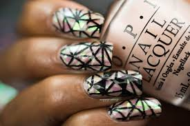 lacquer lockdown pet u0027la plate abstract shattered glass nail art
