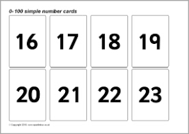 Flashcards Numbers 1 100 0 100 Simple Number Cards Sb128 Sparklebox