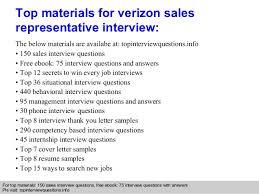 Verizon Resume Verizon Sales Representative Interview Questions And Answers