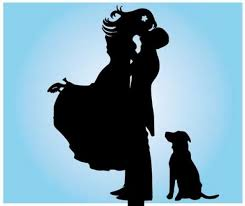 dog cake topper and groom silhouette wedding cake topper dog cake topper