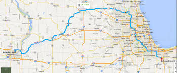 Evanston Illinois Map by Day Six Route Map Power Tour 2014 Lunch Stop At Heidts Rod