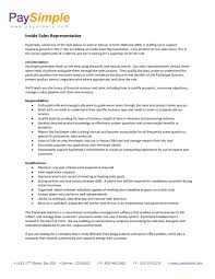 Resume For Sales Representative Jobs by Inside Sales Resume Example Resume Rotary Drill Operators Oil Gas