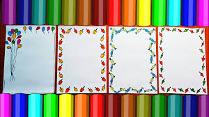 border designs on paper project design ideas how to decorate