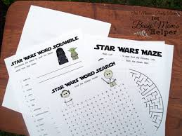 star wars printable activity book busy moms helper