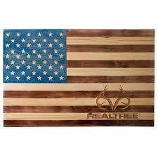 realtree veteran made american flag wall decor camo patriotic