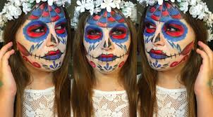 Halloween Face Paint Skeleton by Grateful Dead Inspired Sugar Skull Face Paint Youtube