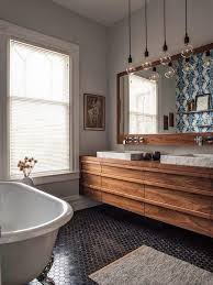 wood bathroom ideas 36 floating vanities for stylish modern bathrooms digsdigs