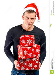 man holding christmas gifts royalty free stock photo image 35284115