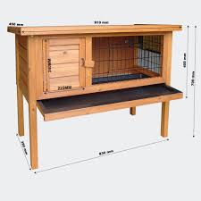 Rabbit Hutch Instructions Wiltec Wooden Rabbit Hutch Cage Pen Small Animal Hut 50020