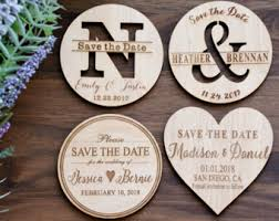 save the date magnets cheap wood save the date etsy