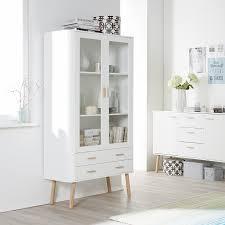 Wohnzimmerschrank Verschieben Vitrinenschrank Pilara Eiche Teilmassiv Eiche Weiß Ideen