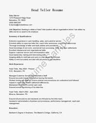 Resume Sample Objectives Entry Level by Attractive Bank Resume Cv Cover Letter Teller Template Banker S
