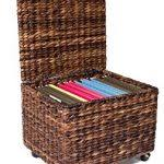 Seagrass Storage Ottoman File Cabinet Design Wicker File Cabinet Birdrock Home Espresso